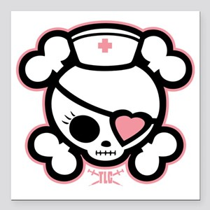 "molly-rn-heart-DKT Square Car Magnet 3"" x 3"""