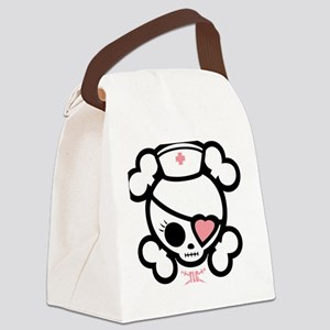 molly-rn-heart-T- Canvas Lunch Bag