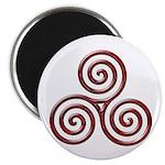 Red Triple Spiral-plain Magnet