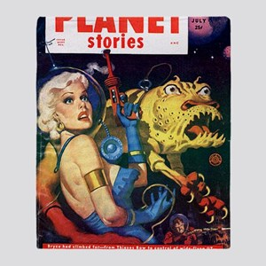 planet stories Throw Blanket