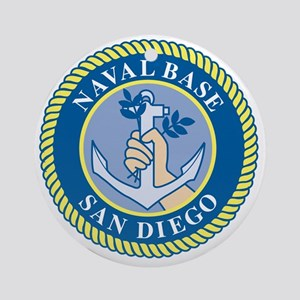 Naval Base San Diego Round Ornament
