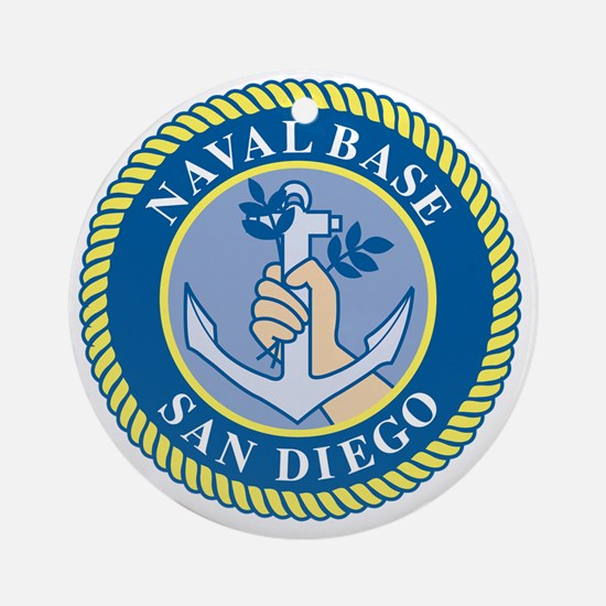 Naval Base San Diego Round Ornament