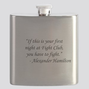 Fight Club - Alexander Hamilton Flask