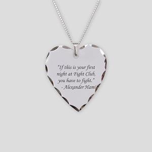 Fight Club - Alexander Hamilt Necklace Heart Charm