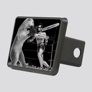 Abe Lincoln vs Polar Bear Rectangular Hitch Cover