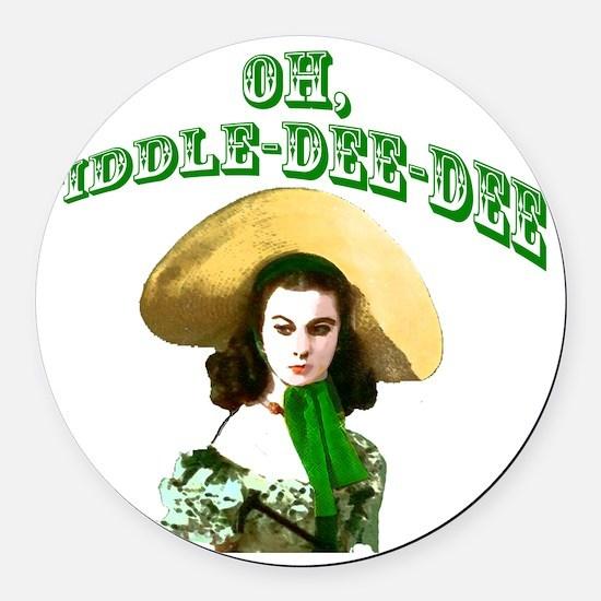 Fiddle dee dee Round Car Magnet