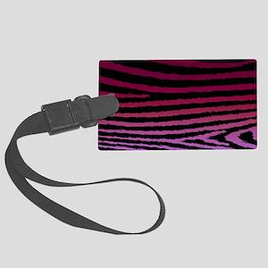 Girly Purple Zebra Pattern Desig Large Luggage Tag