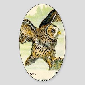 1978 United States Barred Owl Posta Sticker (Oval)