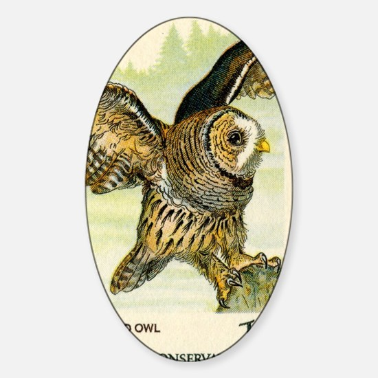 1978 United States Barred Owl Posta Sticker (Oval)