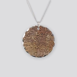 Bas-relief Necklace Circle Charm