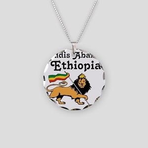 Addis Ababa, Ethiopia Necklace Circle Charm