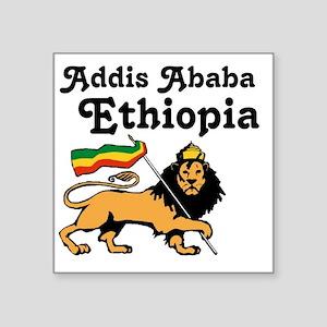 "Addis Ababa, Ethiopia Square Sticker 3"" x 3"""