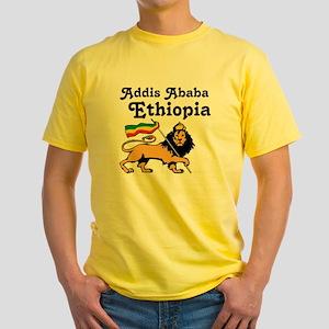 Addis Ababa, Ethiopia Yellow T-Shirt