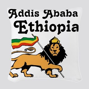 Addis Ababa, Ethiopia Woven Throw Pillow