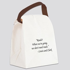 Back To The Future - Lewis and Cl Canvas Lunch Bag