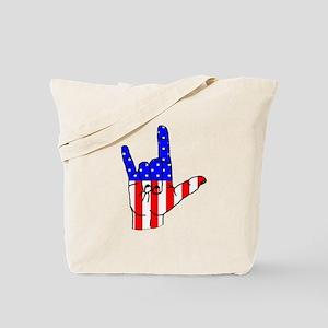 I Love USA Sign Language hand Tote Bag