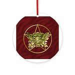 Green Man & Pentagram - 1 - Ornament (Round)