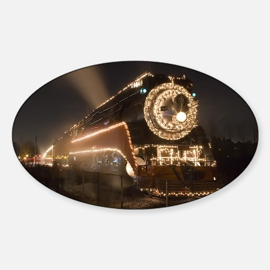 Holiday Train 1.57 Sticker (Oval)
