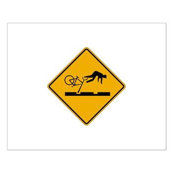 Warning MAX Tracks, Portland - OR Small Poster