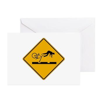 Warning MAX Tracks, Portland - OR Greeting Cards (