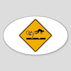Warning MAX Tracks, Portland - OR Oval Sticker