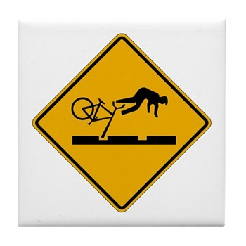 Warning MAX Tracks, Portland - OR Tile Coaster