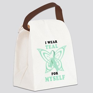 I Wear Teal for Myself Canvas Lunch Bag