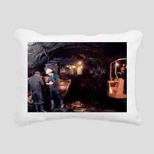 Coal mining Rectangular Canvas Pillow