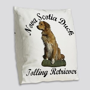 toller Burlap Throw Pillow