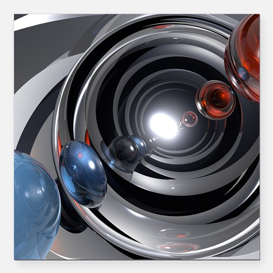 """Abstract Camera Lens Square Car Magnet 3"""" x 3"""""""