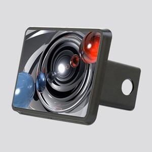 Abstract Camera Lens Rectangular Hitch Cover