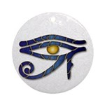 Eye Of Horus - Blue 3 Ornament (Round)