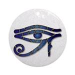 Eye Of Horus - Blue 2 Ornament (Round)