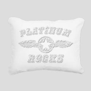 PLATINUM ROCKS Rectangular Canvas Pillow