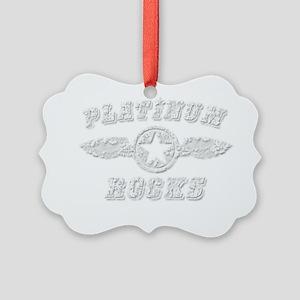 PLATINUM ROCKS Picture Ornament