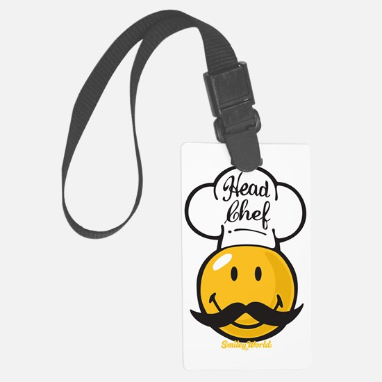 Head Chef Smiley Large Luggage Tag