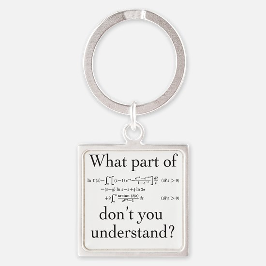 What Part of... Square Keychain