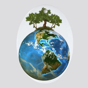Protect Our Nature Oval Ornament