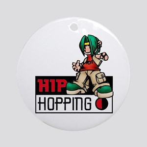 Hip Hopping Ornament (Round)