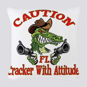 Florida Cracker With Attitude Woven Throw Pillow