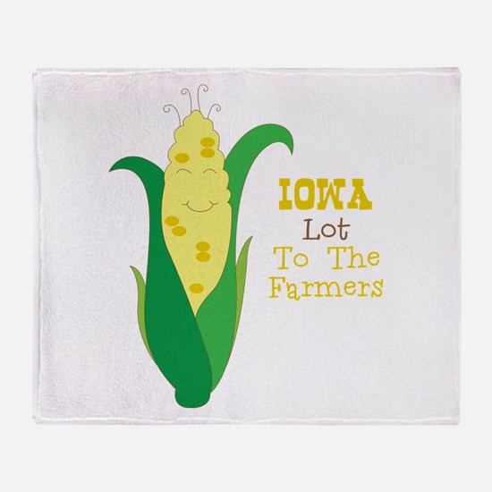 Iown Lot To The Farmers Throw Blanket