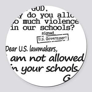 Dear God Round Car Magnet