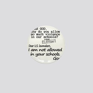 Dear God Mini Button