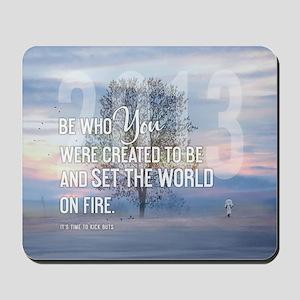 2013 January Calendar Quotes + Art Mousepad