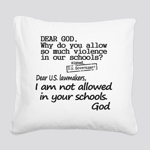 Dear God Square Canvas Pillow