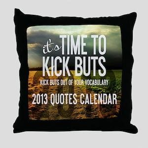 2013 Calendar Quotes + Art Throw Pillow
