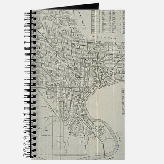 Vintage Map of Newark NJ (1920) Journal