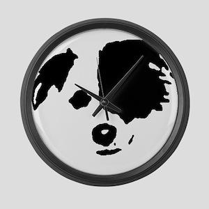 BC Split Face Large Wall Clock