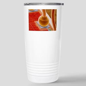 Coloured SEM of integra Stainless Steel Travel Mug