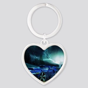 FASTER THAN LIGHTENING Heart Keychain